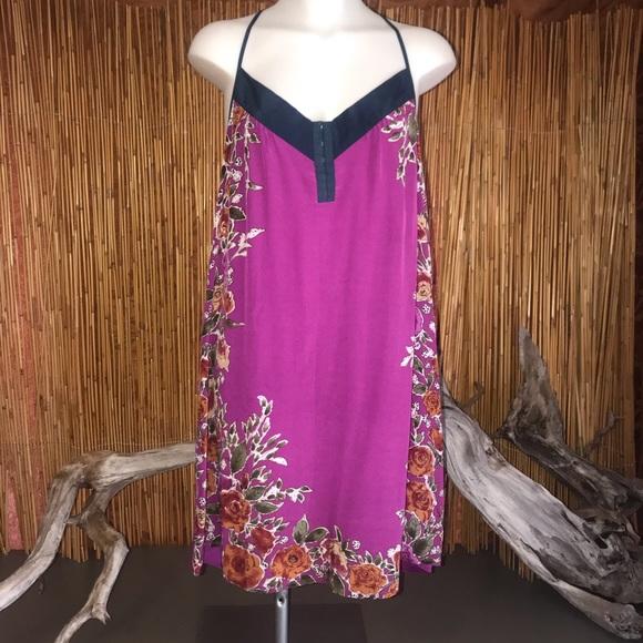 Petticoat Alley Dresses & Skirts - Petticoat Alley Fuchsia Pink Floral Slip Dress